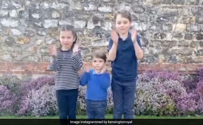 Watch: UK's Youngest Royals Join In Applauding Health Workers - NDTV News