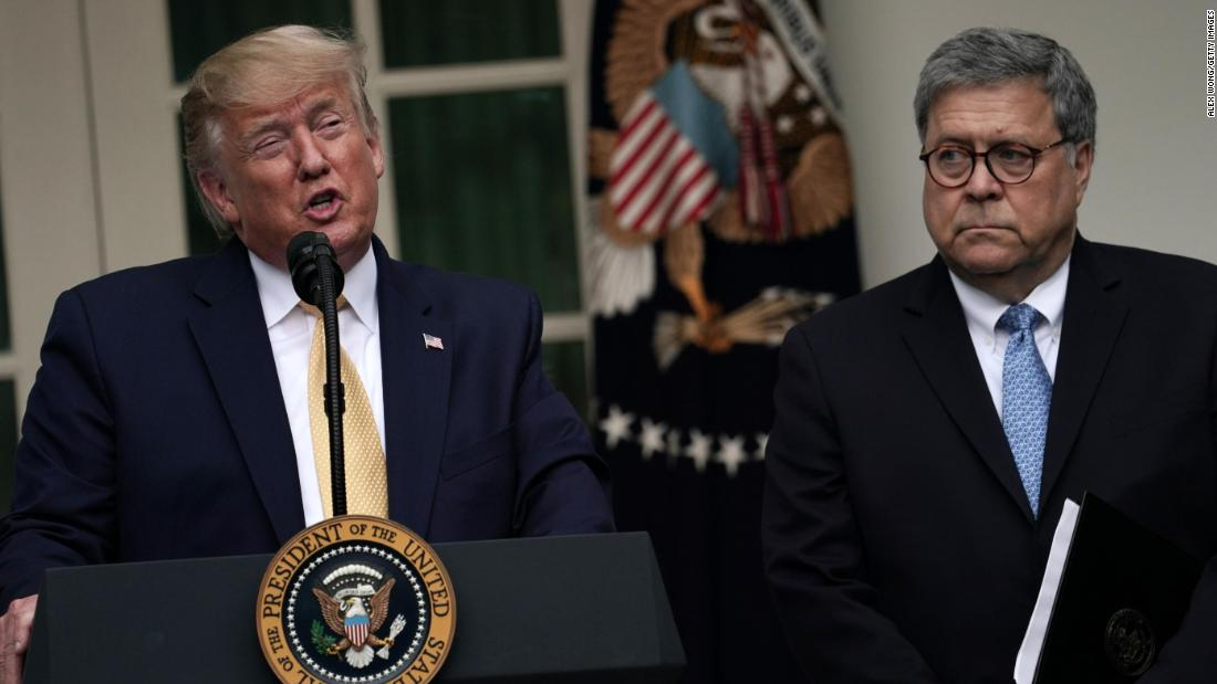Barr has said he's considered resigning over Trump's interference in Justice Department matters, source says - CNN