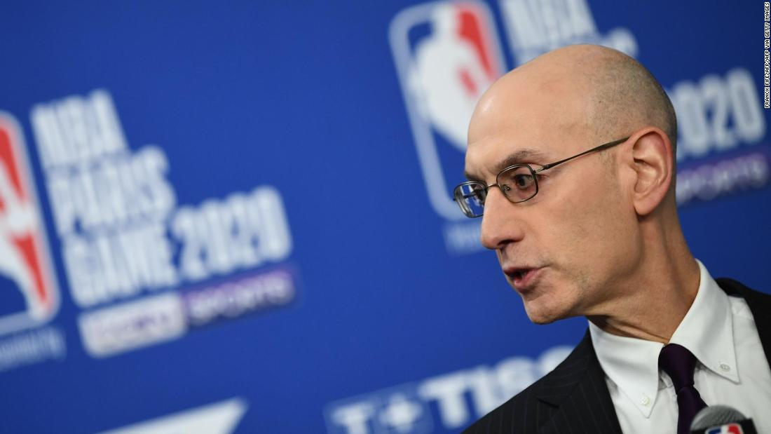 NBA commissioner Adam Silver can't guarantee season will continue if there's rise in coronavirus cases - CNN International