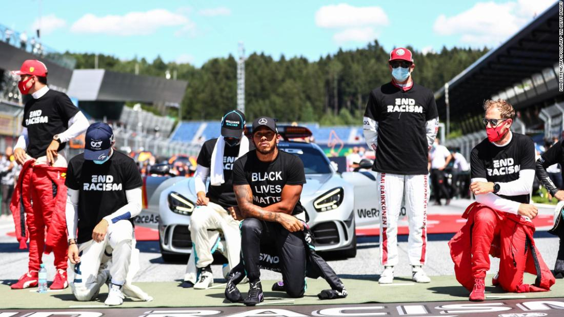 Formula One drivers divided as several choose not to kneel in support of Black Lives Matter movement - CNN International