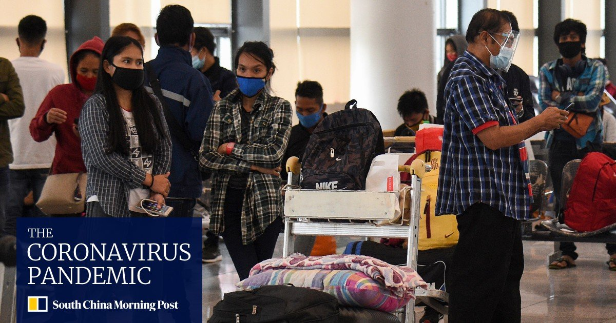 Coronavirus: Philippines' fresh lockdown maroons dozens at airport - South China Morning Post