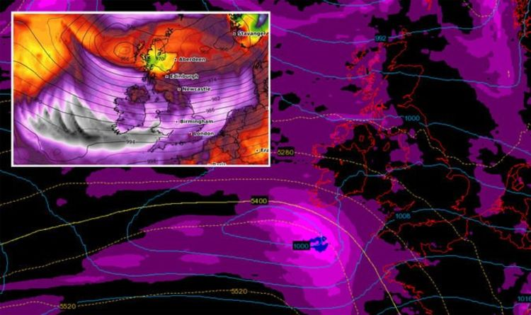 UK weather WARNING: Storm Ellen spotted on HORROR map? 75mph winds to hit - Express.co.uk