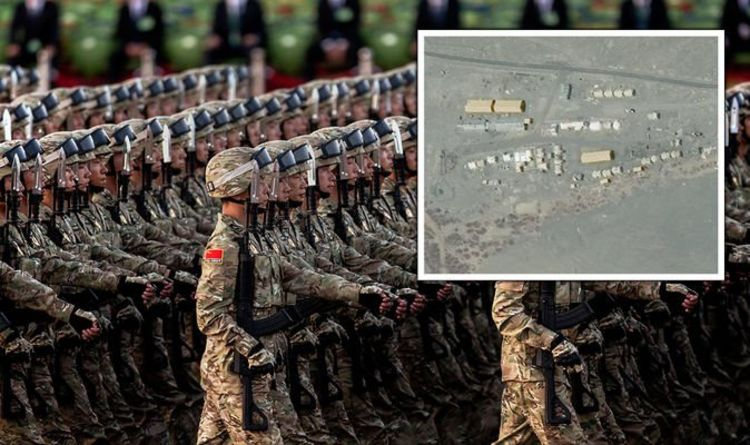 WW3 fears erupt after satellite footage shows 5,000 Chinese troops mobilised for conflict - Express.co.uk