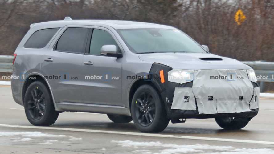 Refreshed Dodge Durango Spied Trying To Cover Updated Face - Motor1