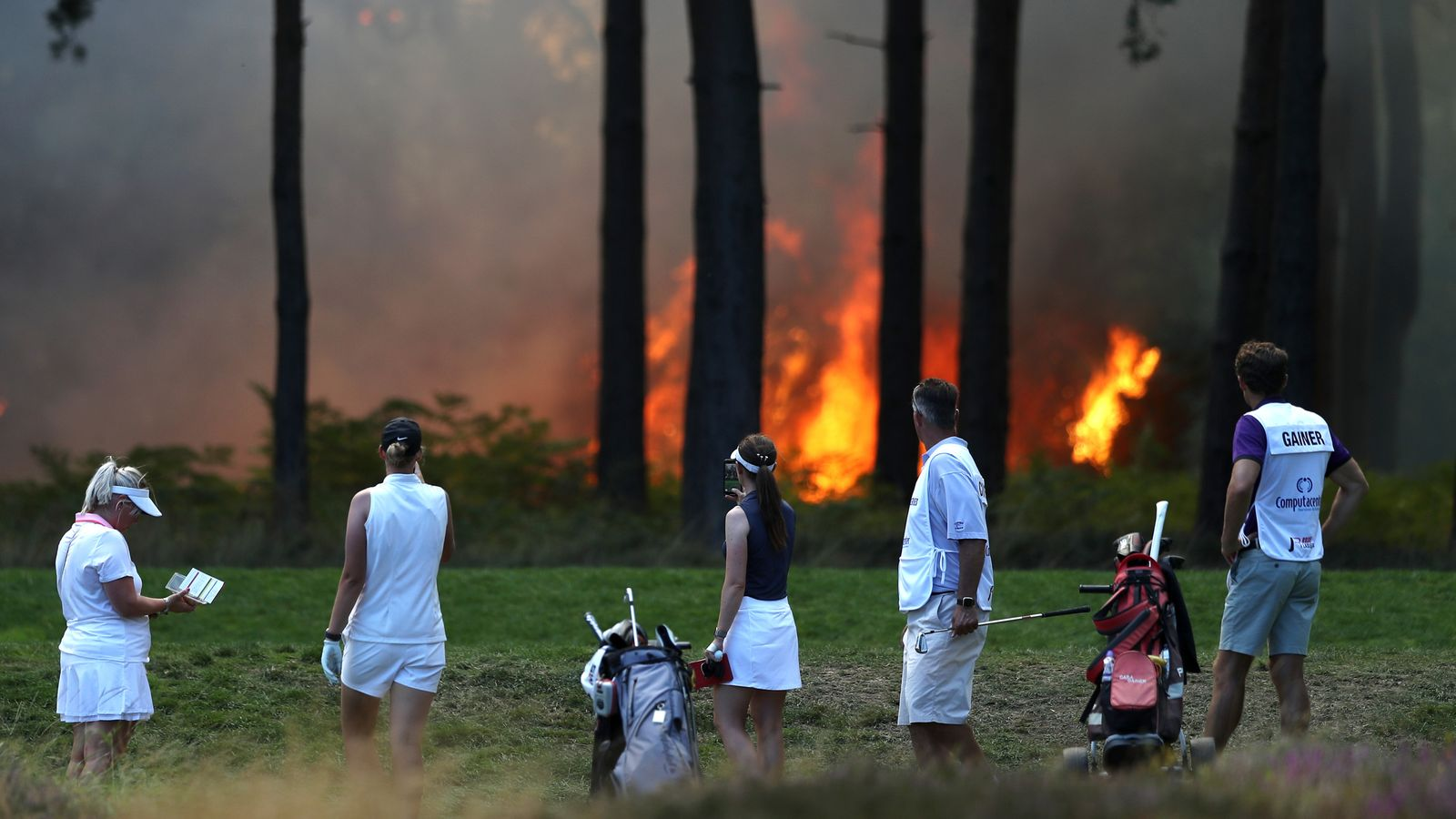 Wentworth fire: Rose Ladies Series Grand Final suspended - Sky Sports