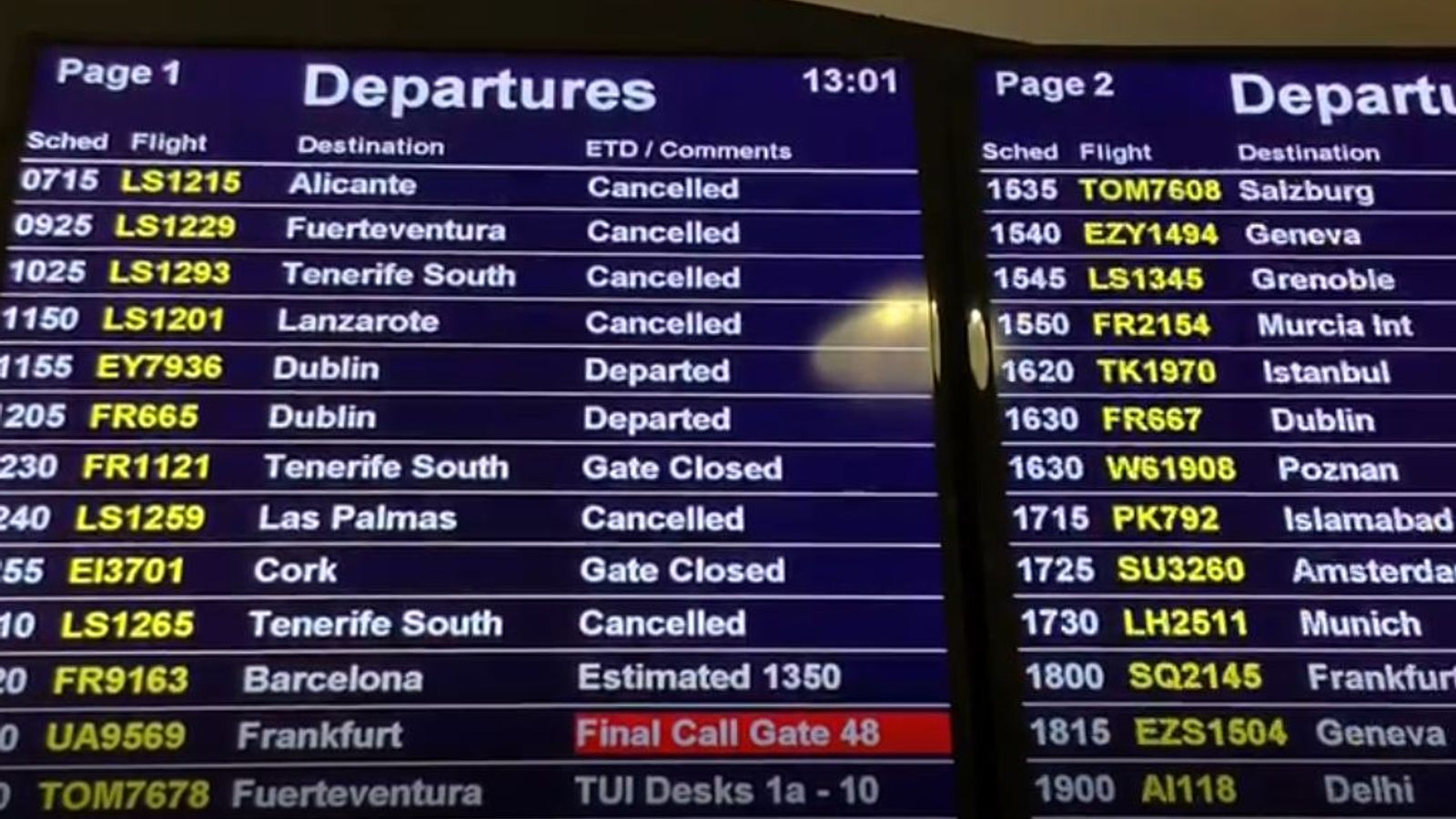 Coronavirus: Chaos for holidaymakers as flights and holidays axed over COVID-19 fears - Sky News
