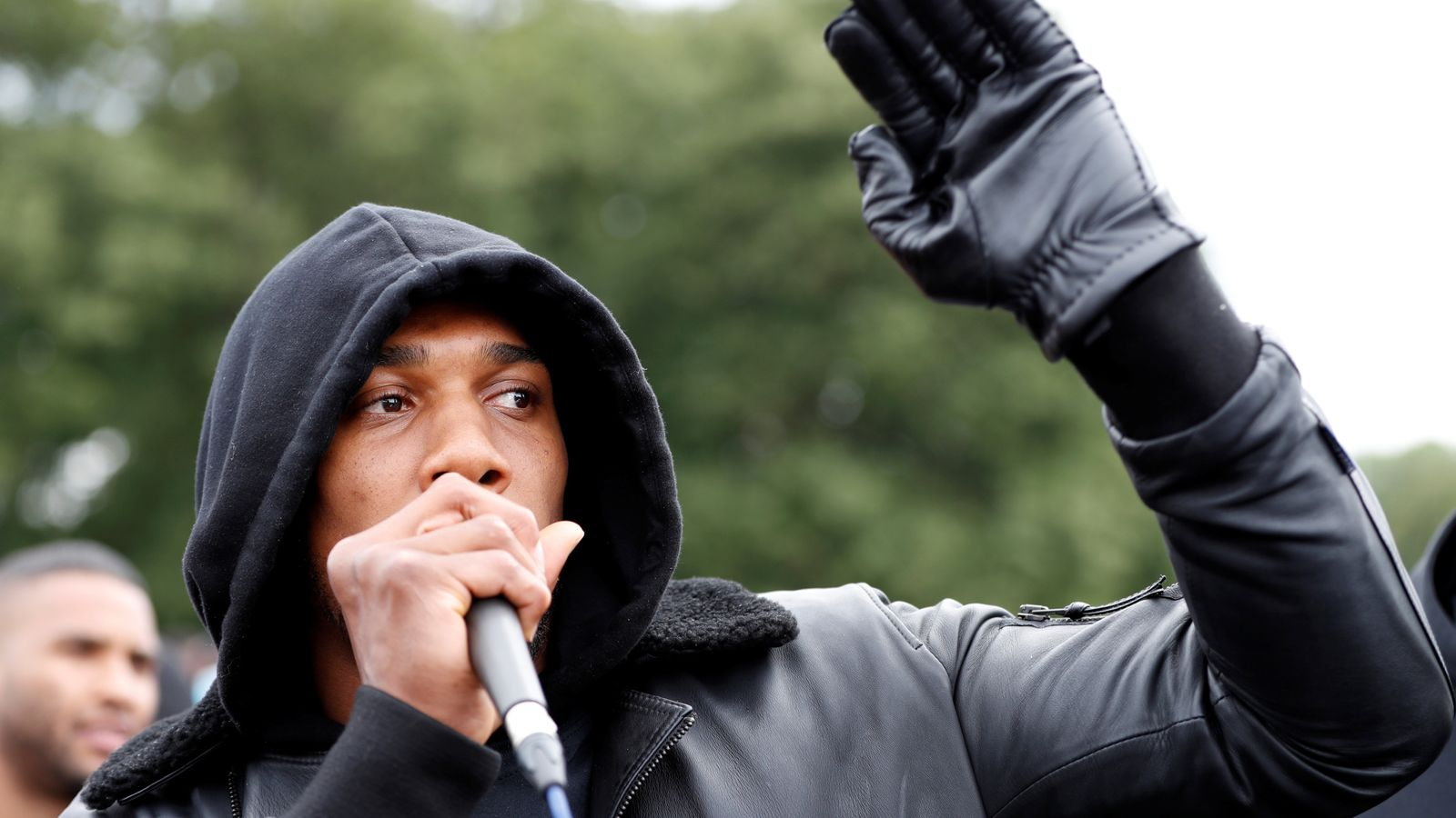 'You are the vaccine to virus of racism': Joshua gives speech to George Floyd protesters in Watford - Sky News
