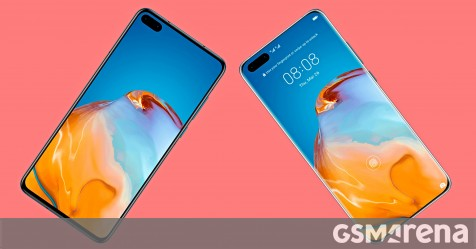 New leaked images show the front of the Huawei P40 and P40 Pro - GSMArena.com news - GSMArena.com