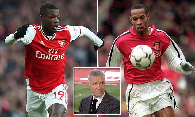 Graeme Souness hails Nicolas Pepe after goal against Newcastle and compares to Thierry Henry - Daily Mail