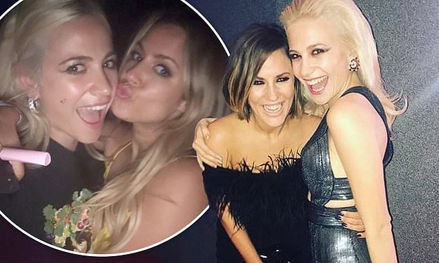 Caroline Flack's Strictly Come Dancing co-star Pixie Lott shares photos of the pair partying - Daily Mail