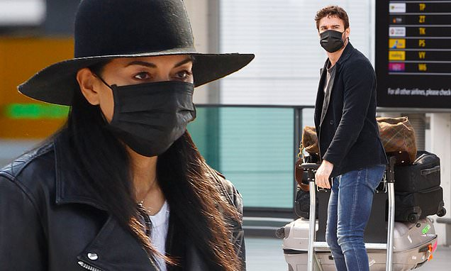 Nicole Scherzinger and beau Thom Evans jet out of London despite COVID-19 lockdown - Daily Mail