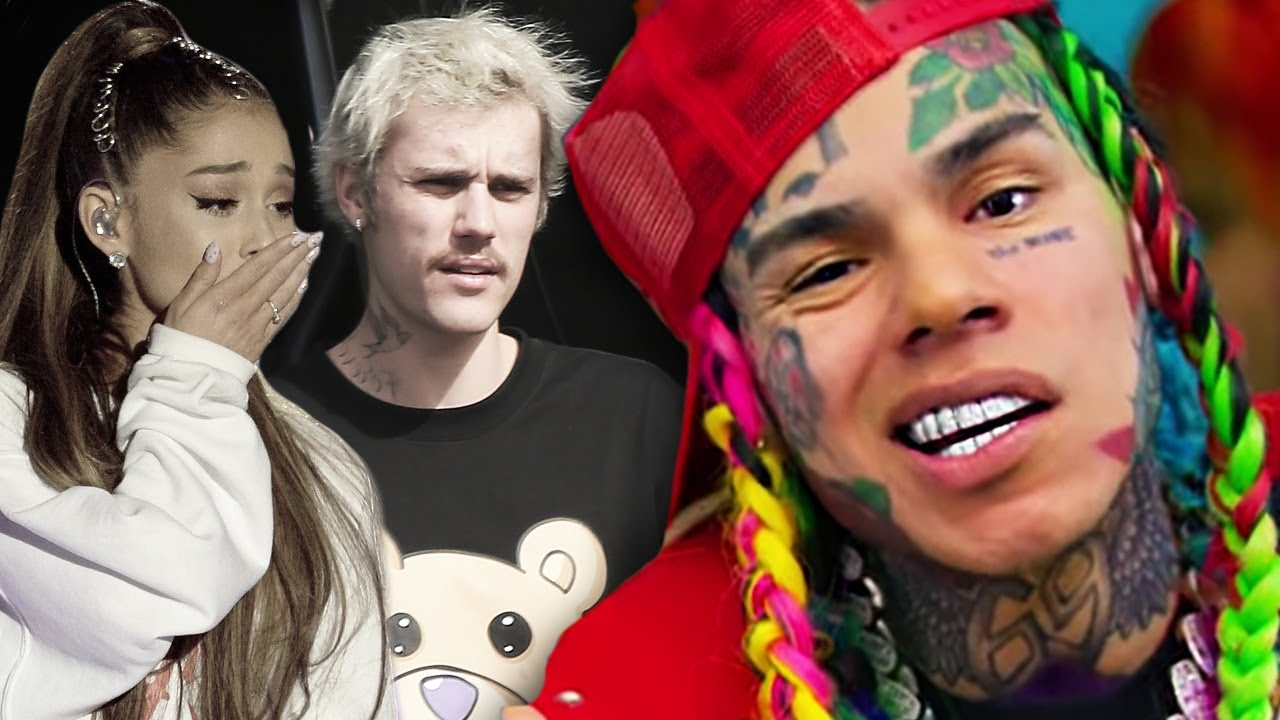 6ix9ine Cries Over Justin Bieber & Ariana Grande Billboard Chart Win - HollywoodLife