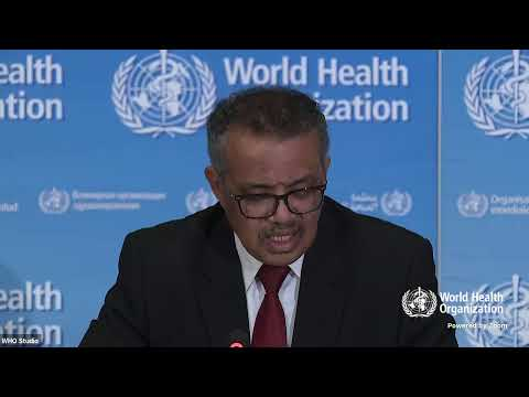 Live from WHO Headquarters - COVID-19 daily press briefing 20 March 2020 - World Health Organization (WHO)