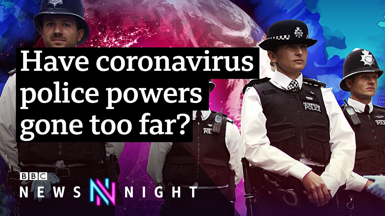 Coronavirus: On the road with British police enforcing social distancing - BBC Newsnight - BBC Newsnight