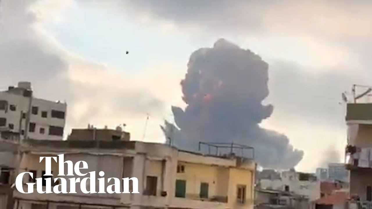 Beirut explosion: footage shows massive blast shaking Lebanon's capital - Guardian News