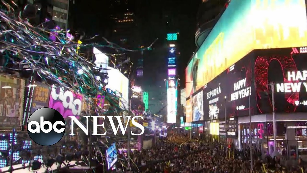 A million people gather in Times Square to celebrate the New Year - ABC News