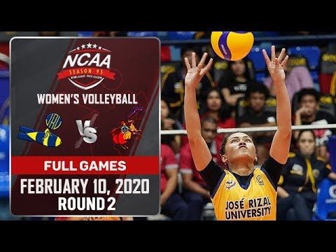 JRU vs. CSJL - February 10, 2020 | Full Game | 1st Set | NCAA 95 WV - ABS-CBN Sports