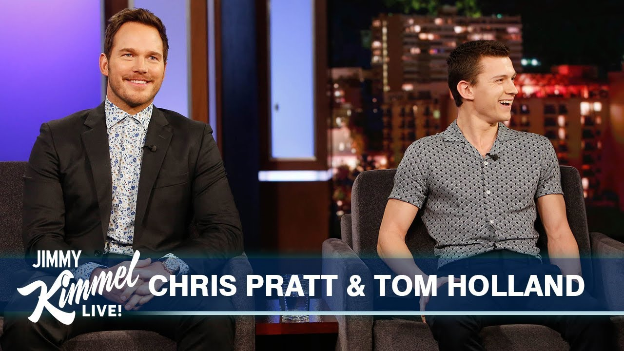 Tom Holland Surprises Chris Pratt - Jimmy Kimmel Live