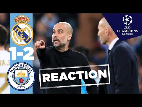 LIVE! PEP REACTS TO WIN IN MADRID - Man City