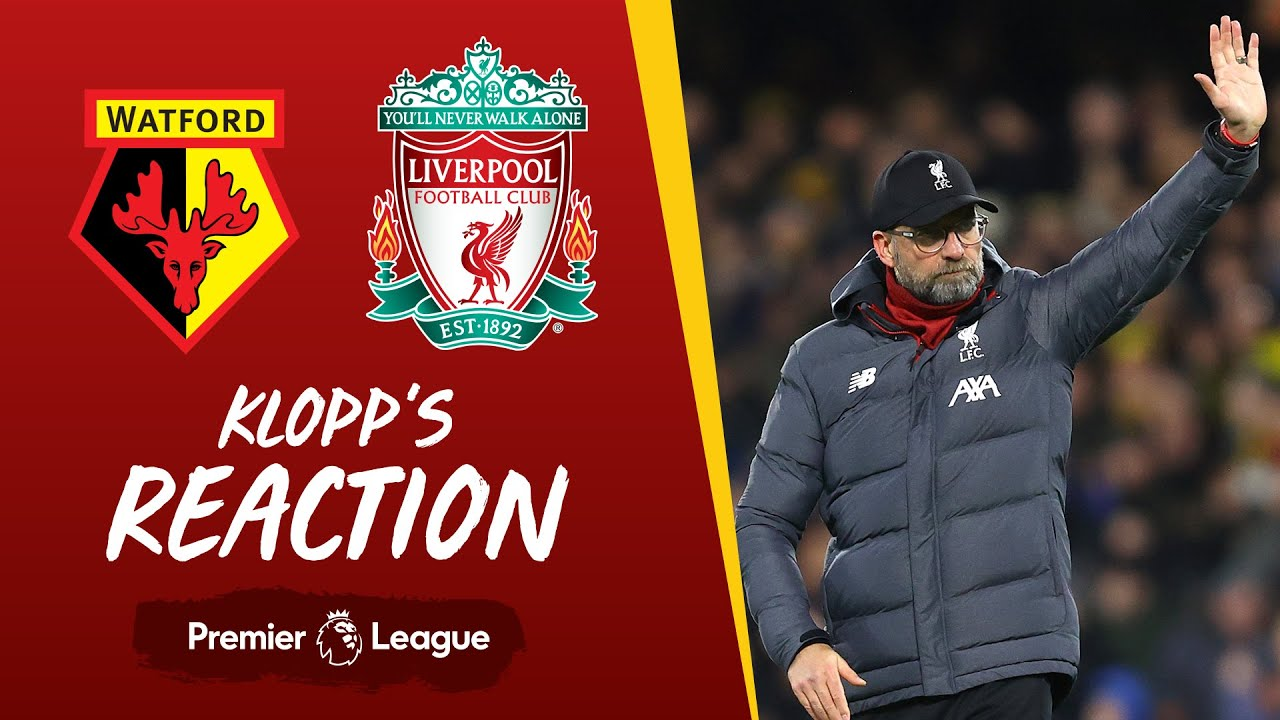 Klopp's Reaction: 'We didn't perform like we should have' | Watford vs Liverpool - Liverpool FC