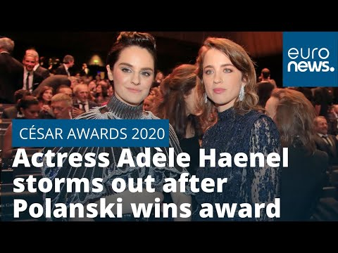 César Awards 2020: French actress Adèle Haenel storms out after Roman Polanski wins best director - euronews (in English)