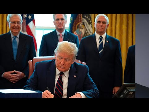 Trump Signs Historic $2 Trillion Virus Relief Package Into Law - Bloomberg Politics