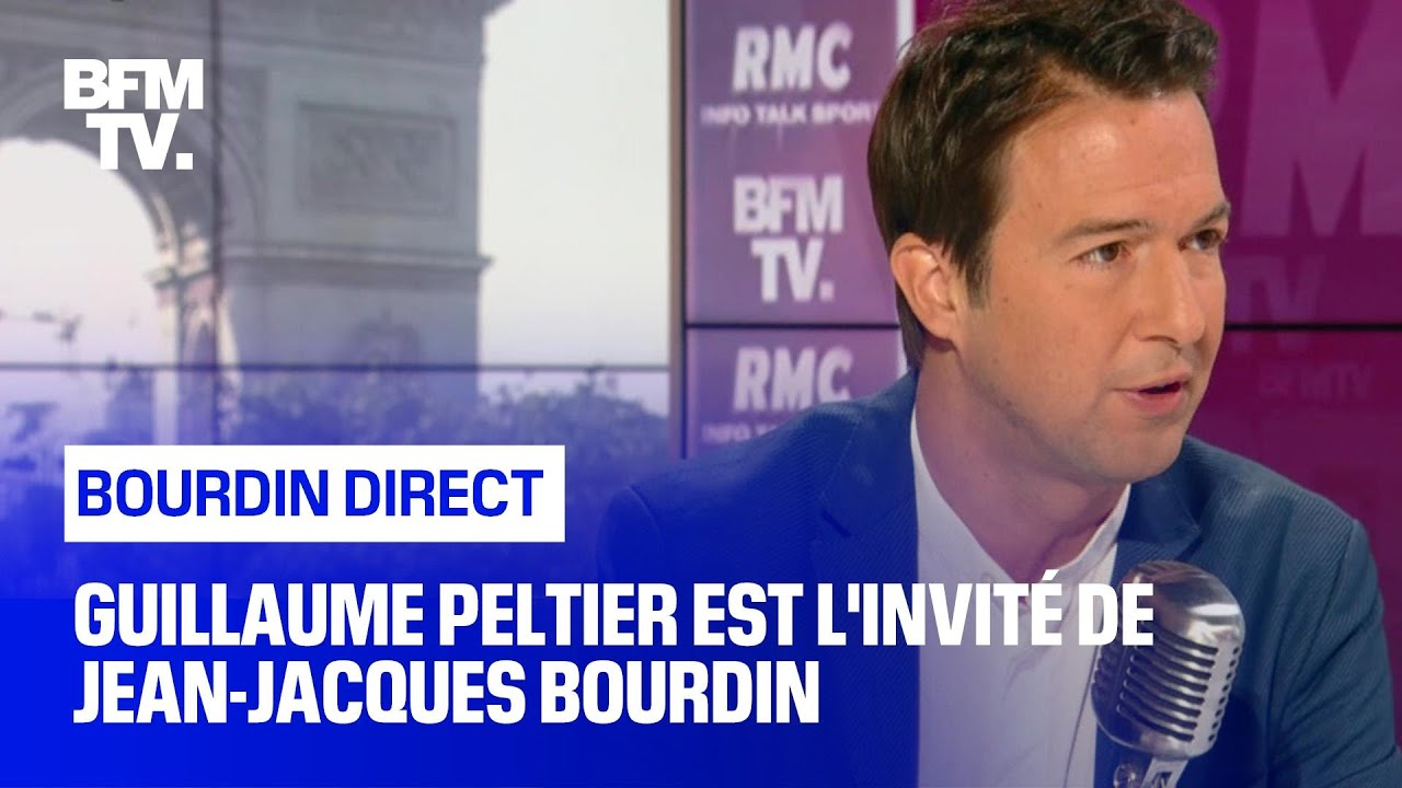 Guillaume Peltier face à Jean-Jacques Bourdin en direct - BFMTV