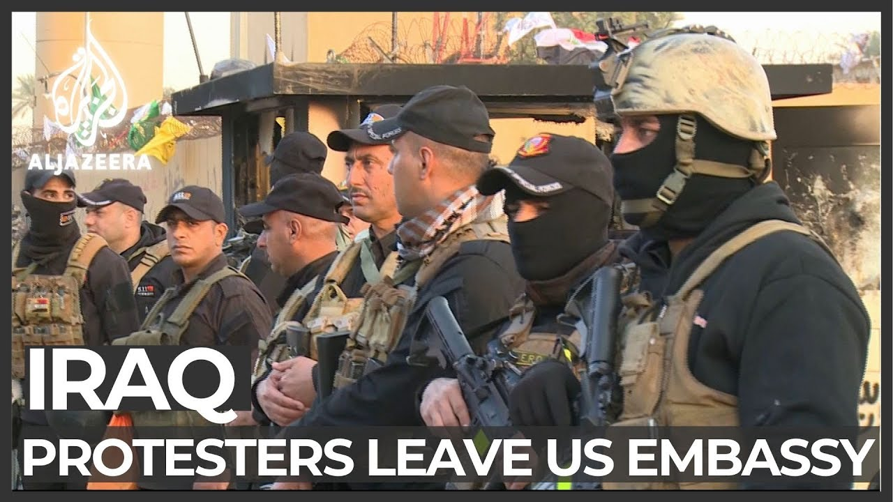 Protesters leave US embassy compound in Baghdad - Al Jazeera English