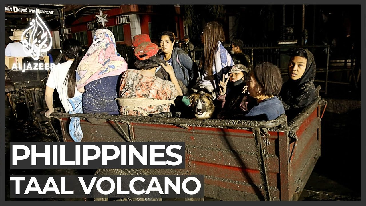 Philippines volcano eruption forces thousands to flee - Al Jazeera English