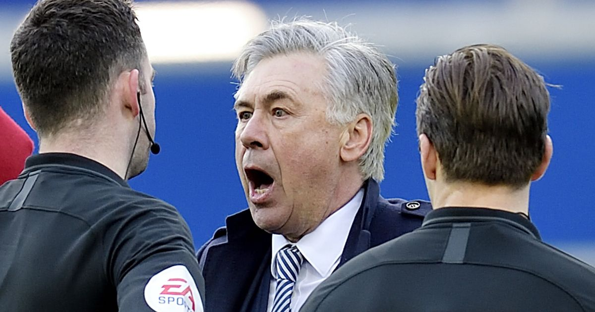 FA make Carlo Ancelotti decision after Everton manager red carded against Manchester United - Liverpool Echo
