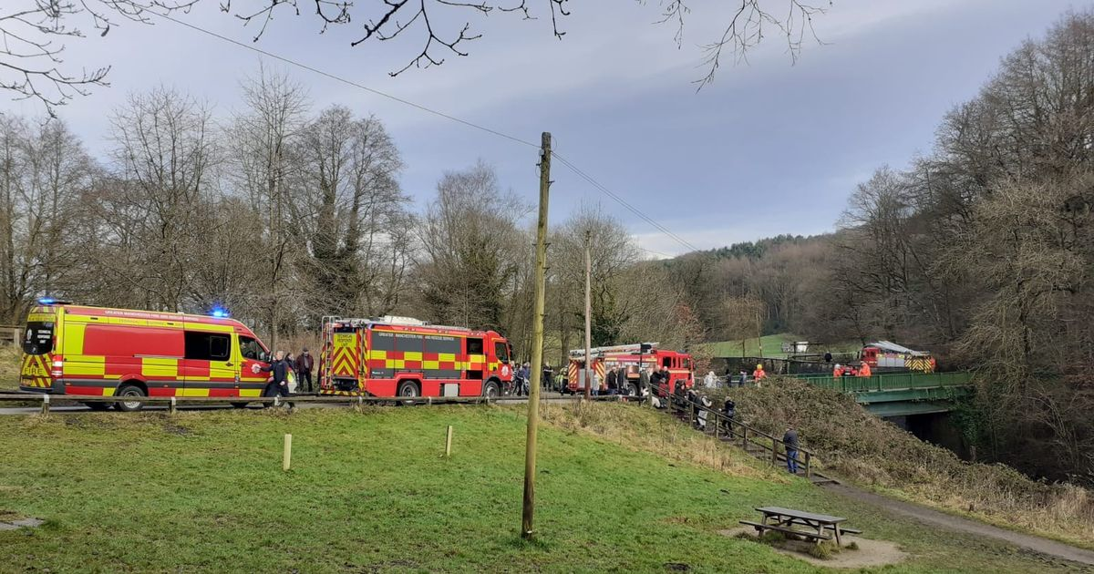 Huge emergency response after pram spotted at weir in Etherow country park - updates - Manchester Evening News