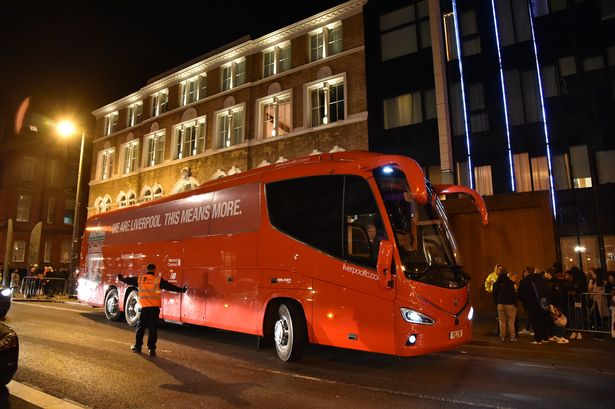 Liverpool FC squad arrive before Manchester United fixture - Manchester Evening News