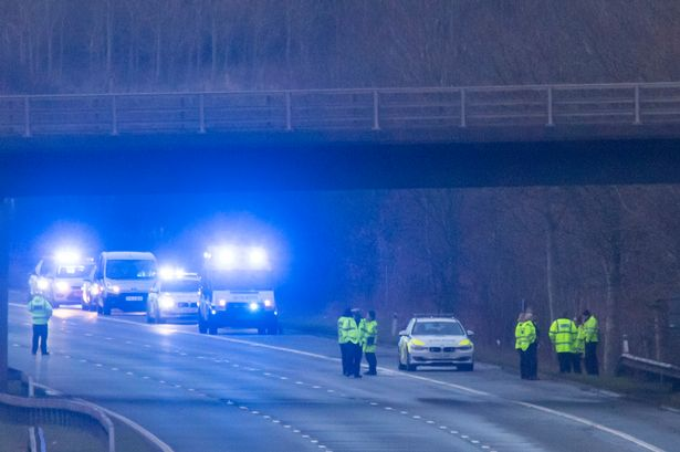 Police officer dies in crash on M6 in Cumbria - Manchester Evening News