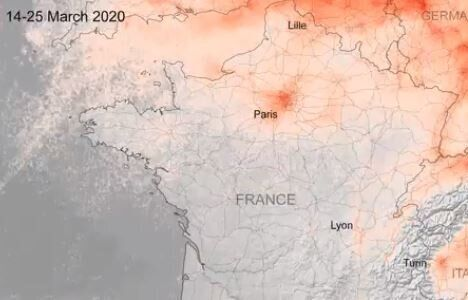 Coronavirus: la pollution à Paris a chuté, ces images satellites le montrent - Le HuffPost