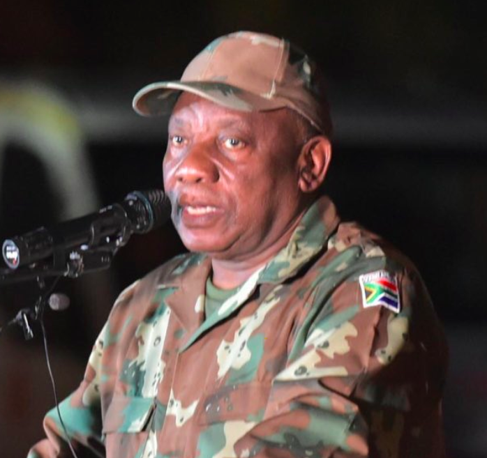 'Nothing wrong' with Cyril Ramaphosa wearing military uniform: defence minister - SowetanLIVE