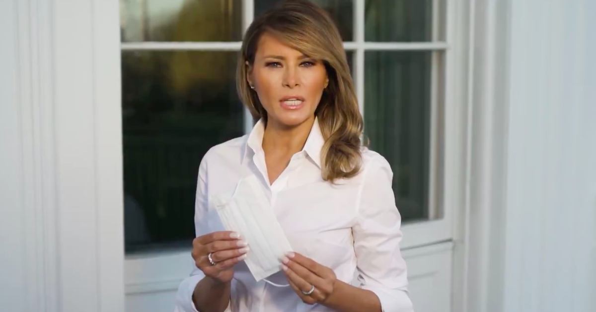 Melania Trump's odd mask PSA contradicts her husband's actions - Mashable