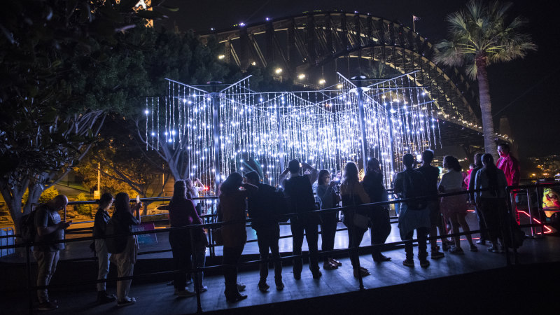 Vivid Festival cancelled as coronavirus infections rise - Sydney Morning Herald