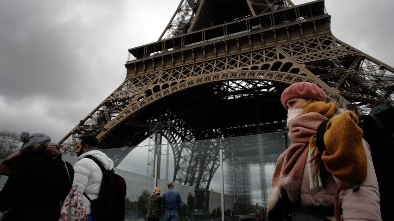 Eiffel Tower, Louvre, cafes shut as France, Spain go into lockdown - Sydney Morning Herald