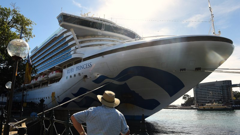 Three Ruby Princess crew members taken to hospital - Sydney Morning Herald