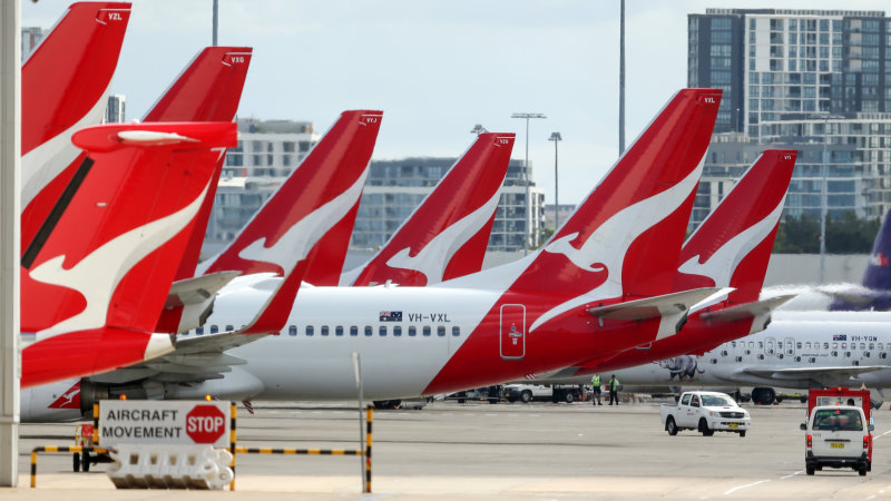 Qantas to ground international flights, stand down two-thirds of staff - Sydney Morning Herald