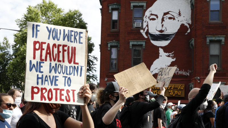 George Floyd protests LIVE updates: Three other police officers to be charged as demonstrations take place in New York, LA and Washington - The Sydney Morning Herald