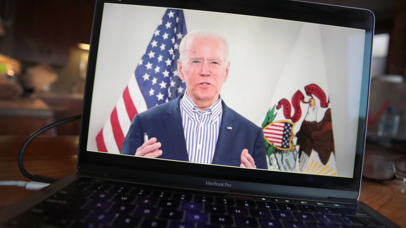 Biden reaches for 'virtual ropeline' to keep up momentum in crisis - Sydney Morning Herald