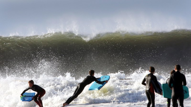 'Like flying down a mountain': The surfers who braved Sydney's wild swell - Sydney Morning Herald