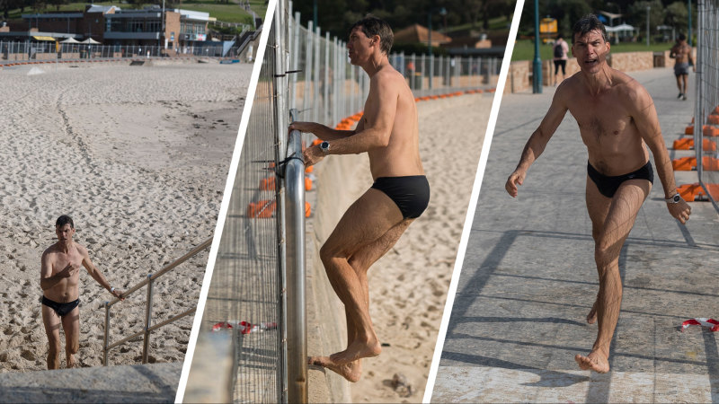 'This is my beach': Fence doesn't deter Sydney swimmers - Sydney Morning Herald