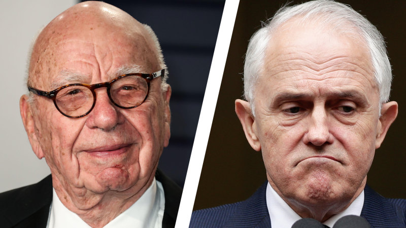 Murdoch wanted him out because he was 'his own man', Turnbull claims - Sydney Morning Herald