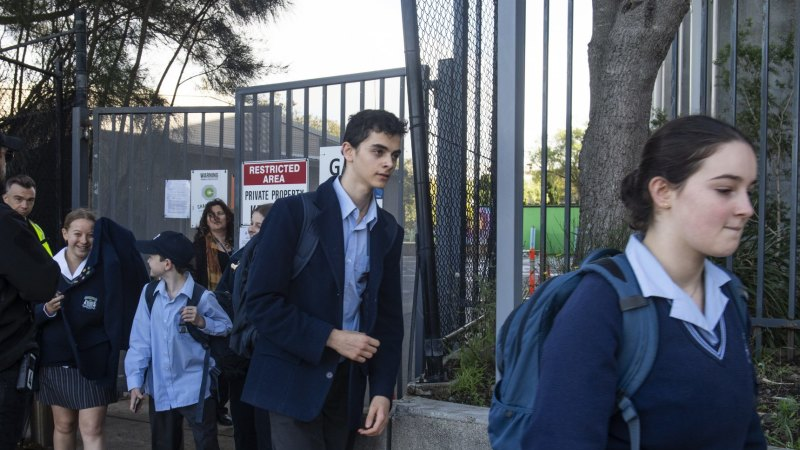 Parents urged to stick by health guidelines after school evacuations - Sydney Morning Herald