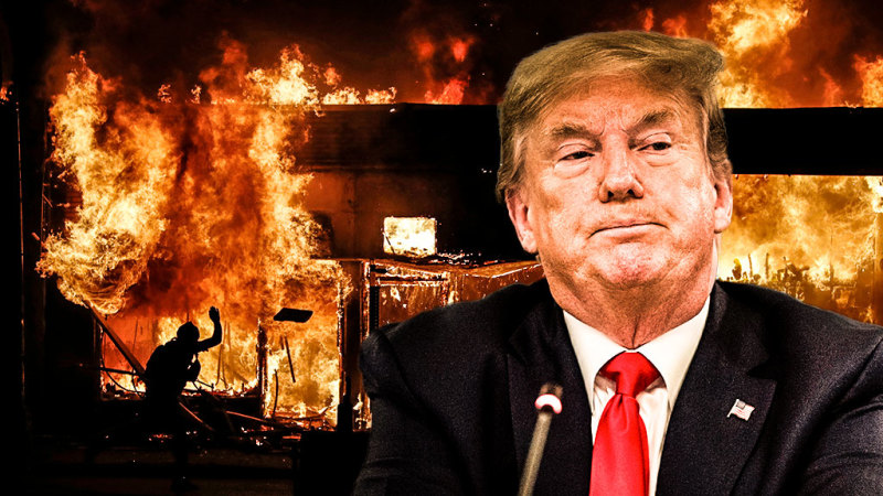 As America burns, Trump falls short at another crisis - Sydney Morning Herald