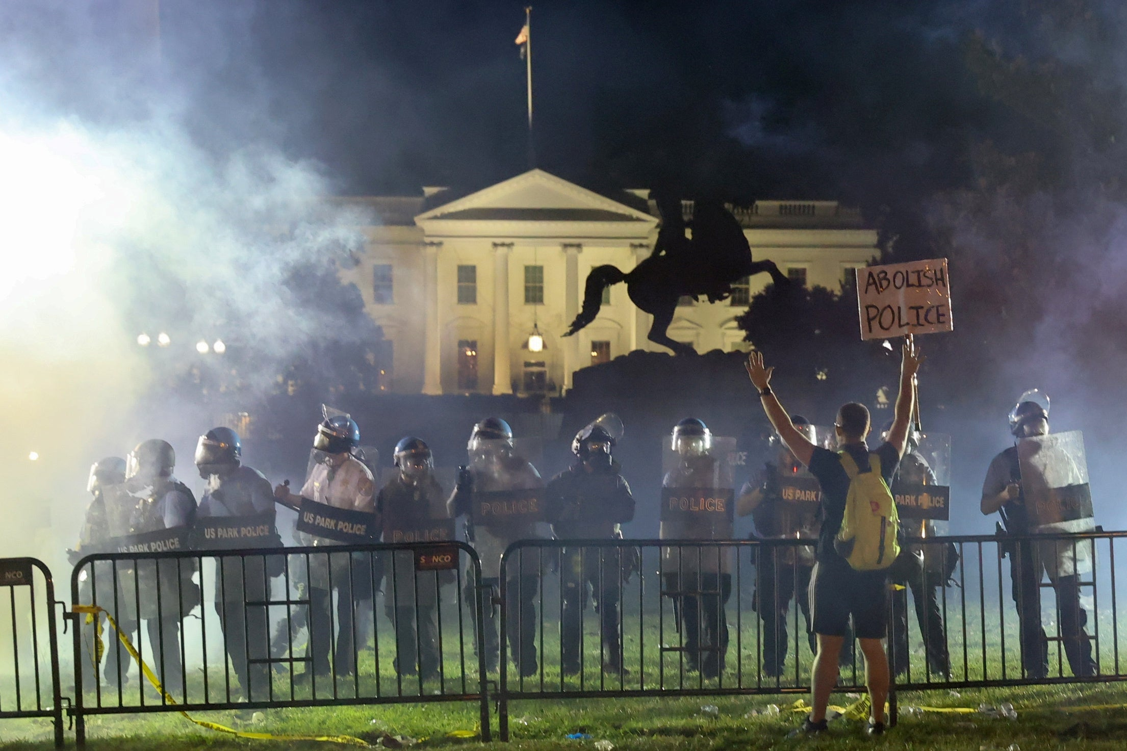 Trump was rushed to secret underground bunker during George Floyd protests outside White House - The Independent