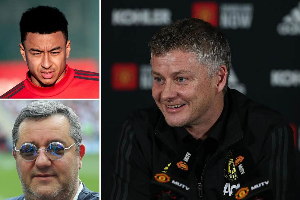Jesse Lingard and Mino Raiola: Ole Gunnar Solskjaer reacts to Man United agent link-up - Evening Standard