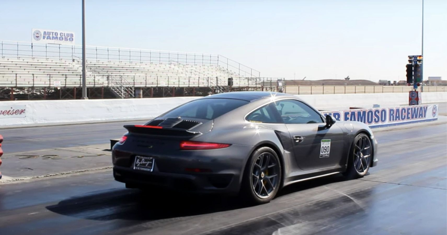 Watch This 1,100-HP Porsche Turbo Pop Wheelies At The Strip - HotCars